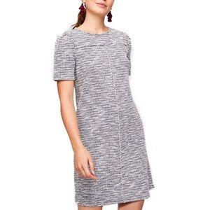 Ann Taylor Loft Black & White Tweed Dress XSP